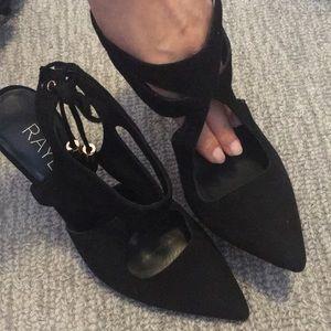 Size 7 must see - RAYE genuine suede heels
